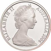 Australia 10 Cents Lyrebird 2006 KM# 65a ELIZABETH II AUSTRALIA 2006 coin obverse