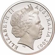 Australia 10 Cents (Lyrebird) KM# 402b ELIZABETH II AUSTRALIA 2003 IRB coin obverse