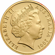Australia 10 Cents (Lyrebird) KM# 402a ELIZABETH II AUSTRALIA 2001 IRB coin obverse