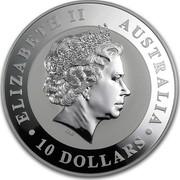 Australia 10 Dollars Australian Koala 2012 P KM# 1690 ELIZABETH II AUSTRALIA 10 DOLLARS coin obverse