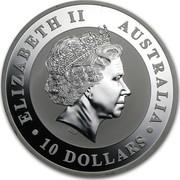 Australia 10 Dollars Australian Koala 2013 KM# 1980 ELIZABETH II AUSTRALIA 10 DOLLARS IRB coin obverse