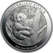 Australia 10 Dollars Australian Koala 2013 KM# 1980 AUSTRALIAN KOALA 2013 10 OZ 999 SILVER P TV coin reverse