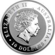 Australia 10 Dollars Australian Kookaburra 2013 KM# 1986 ELIZABETH II AUSTRALIA 10 DOLLARS IRB coin obverse