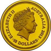 Australia 10 Dollars Bicentenary of the Holey Dollar and Dump 2013 KM# 2027 ELIZABETH II AUSTRALIA 2013 10 DOLLARS IRB coin obverse