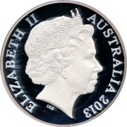 Australia 10 Dollars Crossing Of Blue Mountains 2013 KM# 1964 ELIZABETH II AUSTRALIA 2013 IRB coin obverse