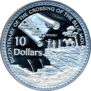 Australia 10 Dollars Crossing Of Blue Mountains 2013 KM# 1964 BICENTENARY OF THE CROSSING OF THE BLUE MOUNTAINS 10 DOLLARS MOUNT BLAXLAND SOUTH GREEK SYDNEY coin reverse