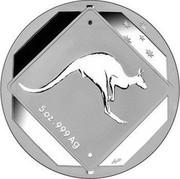 Australia 10 Dollars Kangaroo Road Sign 2013 KM# 1954 5 OZ .999 AG coin reverse