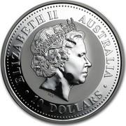 Australia 10 Dollars Lunar Dragon 2000 KM# 524 ELIZABETH II AUSTRALIA 10 DOLLARS IRB coin obverse
