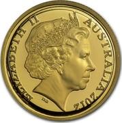 Australia 10 Dollars Mareeba Rock-Wallaby 2012 P Proof KM# 1683 ELIZABETH II AUSTRALIA 2012 coin obverse