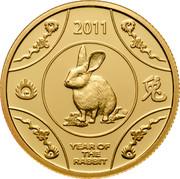 Australia 10 Dollars Year of the Rabbit 2011 Proof KM# 1661b 2011 YEAR OF THE RABBIT coin reverse