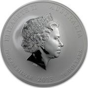 Australia 10 Dollars Year of the Snake 2013 KM# 1995 ELIZABETH II AUSTRALIA 10 OZ 999 SILVER 2013 10 DOLLARS IRB coin obverse