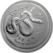 Australia 10 Dollars Year of the Snake 2013 KM# 1995 YEAR OF THE SNAKE P coin reverse