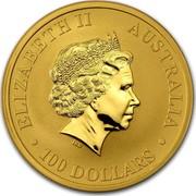 Australia 100 Dollars Australian Kangaroo 2011 KM# 1685 ELIZABETH II AUSTRALIA 100 DOLLARS IRB coin obverse