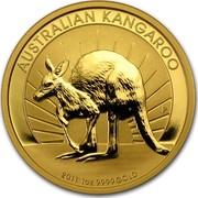 Australia 100 Dollars Australian Kangaroo 2011 KM# 1685 AUSTRALIAN KANGAROO 2011 1 OZ 9999 GOLD P AH coin reverse