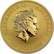 Australia 100 Dollars Australian Kangaroo 2012 P Proof KM# 1686 ELIZABETH II AUSTRALIA • 100 DOLLARS • IRB coin obverse