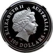 Australia 100 Dollars Australian Koala - Multiculturalism (Colorized) 2002 KM# 636 ELIZABETH II AUSTRALIA 100 DOLLARS IRB coin obverse