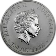 Australia 100 Dollars Australian Platypus 2012 KM# 1731 ELIZABETH II AUSTRALIA 100 DOLLARS IRB coin obverse