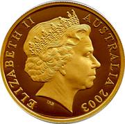 Australia 100 Dollars Coronation 2003 KM# 800 ELIZABETH II AUSTRALIA 2003 IRB coin obverse