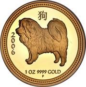 Australia 100 Dollars Dog 2006 KM# 1905 2006 1 OZ 9999 GOLD coin reverse
