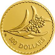 Australia 100 Dollars Golden Wattle 2001 KM# 643 100 DOLLARS HH coin reverse