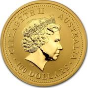 Australia 100 Dollars (Lunar Horse) KM# 587 ELIZABETH II AUSTRALIA 100 DOLLARS IRB coin obverse