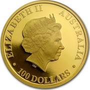 Australia 100 Dollars Nugget 2011 KM# 1596 ELIZABETH II AUSTRALIA 100 DOLLARS IRB coin obverse