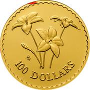 Australia 100 Dollars Royal Blue Bell flowers 2003 KM# 870 100 DOLLARS HH coin reverse