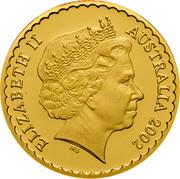 Australia 100 Dollars Stuart Desert Rose 2002 KM# 657 ELIZABETH II AUSTRALIA 2002 IRB coin obverse