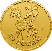 Australia 100 Dollars Stuart Desert Rose 2002 KM# 657 100 DOLLARS HH coin reverse