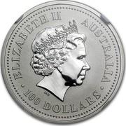 Australia 100 Dollars The Australian Koala 1999 KM# 460 ELIZABETH II AUSTRALIA 100 DOLLARS IRB coin obverse