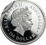 Australia 100 Dollars The Australian Koala 2000 KM# 473 ELIZABETH II AUSTRALIA 100 DOLLARS IRB coin obverse