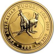 Australia 100 Dollars The Australian Nugget 2002 KM# 693 THE AUSTRALIAN NUGGET 1 OZ. 9999 GOLD 2002 MG coin reverse