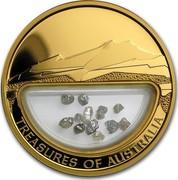 Australia 100 Dollars Treasures of Australia 2009 KM# 1243 TREASURES OF AUSTRALIA JG coin reverse