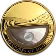 Australia 100 Dollars Treasures of Australia 2011 KM# 1595 TREASURES OF AUSTRALIA JG coin reverse