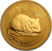 Australia 100 Dollars Year of the Mouse 2008 Proof KM# 1907 YEAR OF THE MOUSE P coin reverse