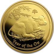 Australia 100 Dollars Year of the Ox 2009 KM# 1908 YEAR OF THE OX P coin reverse