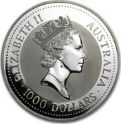 Australia 1000 Dollars Koala 1994 KM# 255 ELIZABETH II AUSTRALIA • 1000 DOLLARS • RDM coin obverse