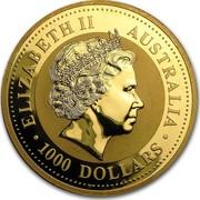 Australia 1000 Dollars Lunar Dragon 2000 KM# 702 ELIZABETH II AUSTRALIA 1000 DOLLARS IRB coin obverse