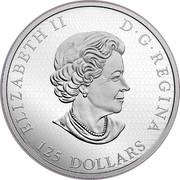 Canada 125 Dollars Elk 2017 Proof ELIZABETH II D∙G∙REGINA 125 DOLLARS coin obverse