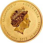 Australia 15 Dollars Australian-Amirican Memorial 2013 KM# 2074 ELIZABETH II AUSTRALIA 1/10 OZ 9999 GOLD 2013 15 DOLLARS IRB coin obverse