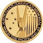 Australia 15 Dollars Australian-Amirican Memorial 2013 KM# 2074 AUSTRALIAN/AMERICAN MEMORIAL WAR IN THE PACIFIC 1941-45 P coin reverse