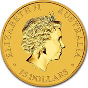 Australia 15 Dollars Australian Kangaroo 2014 KM# 2081 ELIZABETH II AUSTRALIA 15 DOLLARS IRB coin obverse