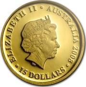 Australia 15 Dollars Koalas on a tree branch 2008 KM# 1873 ELIZABETH II AUSTRALIA 2008 15 DOLLARS IRB coin obverse