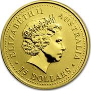 Australia 15 Dollars Lunar Dog 2006 KM# 1888 ELIZABETH II AUSTRALIA 15 DOLLARS IRB coin obverse