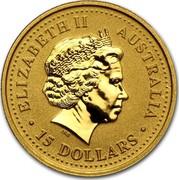 Australia 15 Dollars Lunar Dragon 2000 KM# 526 ELIZABETH II AUSTRALIA 15 DOLLARS IRB coin obverse