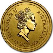Australia 15 Dollars Lunar Ox 1997 KM# 335 ELIZABETH II AUSTRALIA 15 DOLLARS RDM coin obverse