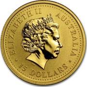 Australia 15 Dollars Lunar Pig 2007 KM# 1889 ELIZABETH II AUSTRALIA 15 DOLLARS IRB coin obverse