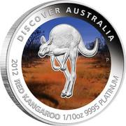 Australia 15 Dollars Red Kangaroo 2012 P Proof KM# 1851 DISCOVER AUSTRALIA 2012 RED KANGAROO 1/10OZ 9995 PLATINUM coin reverse