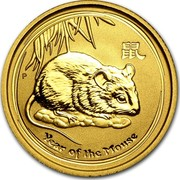 Australia 15 Dollars Year of the Mouse 2008 KM# 1890 YEAR OF THE MOUSE P coin reverse