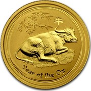Australia 15 Dollars Year of the Ox 2009 KM# 1891 YEAR OF THE OX P coin reverse